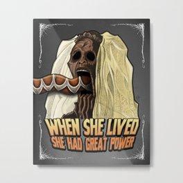 Zombie Voodoo Priestess Metal Print