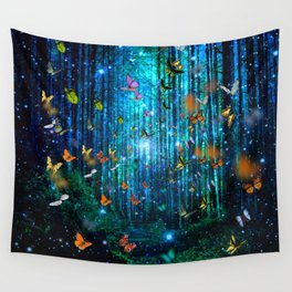Magical Path Butterflies Wall Tapestry