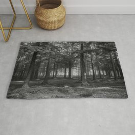 Black and white forest - North Kessock, Highlands, Scotland Rug