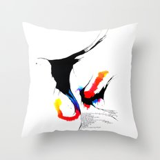 fissures #4 Throw Pillow