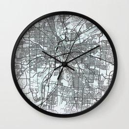 Dayton, OH, USA, White, City, Map Wall Clock