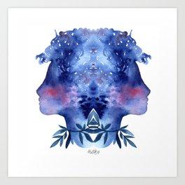 Blue soul Art Print