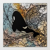 killer whale Canvas Prints featuring Killer Whale by Nemki