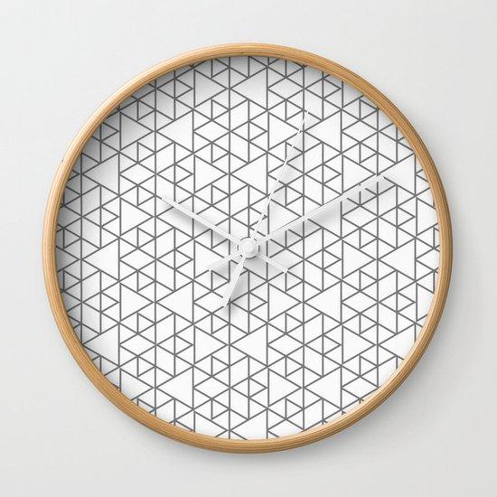 Karthuizer Grey & White Pattern Wall Clock