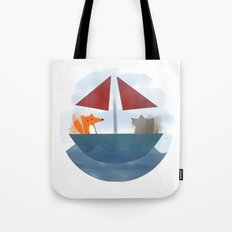 Fox & Wolf in a Tub Tote Bag