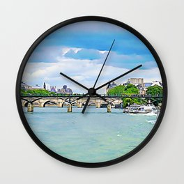 Bridges of The Seine Wall Clock
