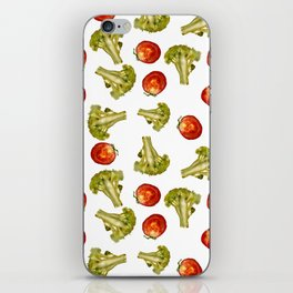 Broccoli and tomato iPhone Skin