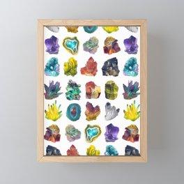 Crystals Framed Mini Art Print