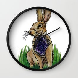 Geode Hare Wall Clock