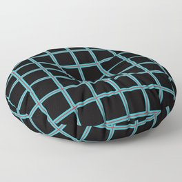PNW Plaid Seattle Gridlock Floor Pillow