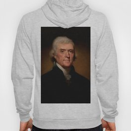 Official Presidential portrait of Thomas Jefferson Hoody