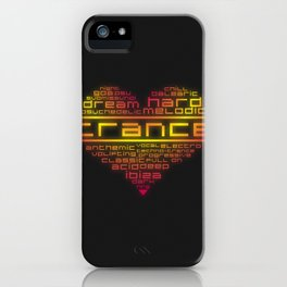 We love trance music iPhone Case