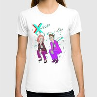 mulder T-shirts featuring Mulder & Scully glitch  by Paisleysaurus