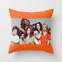 oitnb Throw Pillows featuring OITNB by I Love Decor