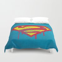 superheros Duvet Covers featuring Superzombie by Nxolab