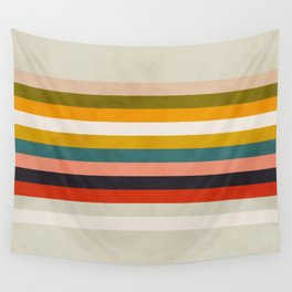 modern abstract stripe geometric Wall Tapestry