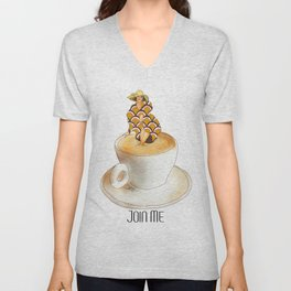 Join Me the Coffee is Fine Unisex V-Neck