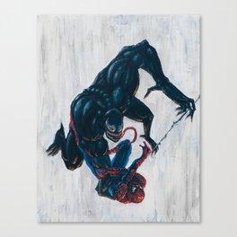 Spider-man & Venom Canvas Print