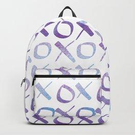 xoxo Watercolor Blue Purple Backpack