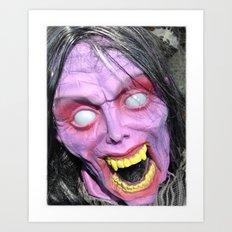 Scary Lady Art Print