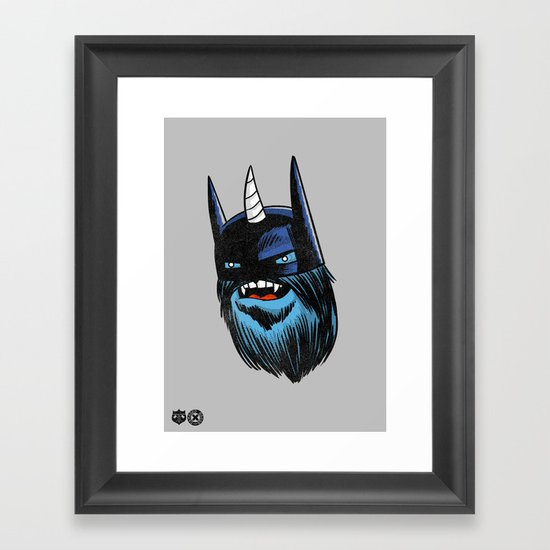 Yeticorn Comic Heroes series: the Batman!  Framed Art Print