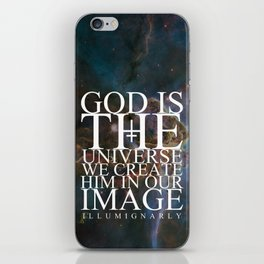 God is the universe iPhone Skin