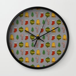 Christmas Cookies (Gray) Wall Clock