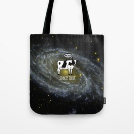 A cow become Space Junk at the Universe Tote Bag