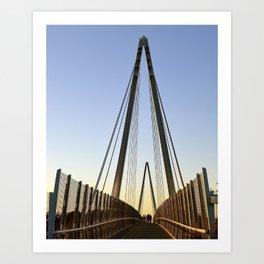 on the bridge Art Print