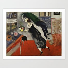 Marc Chagall, The Birthday 1915 Artwork, Posters Tshirts Prints Bags Men Women Kids Art Print