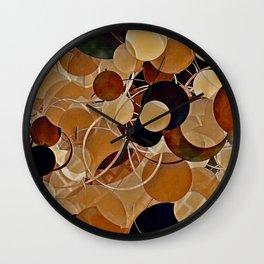 Autumn Bubbles Pattern Wall Clock