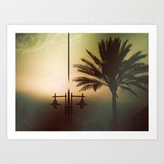 Mysterious sunset Art Print