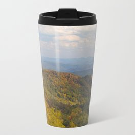 Yellow Trees in an Autumn Landscape Travel Mug