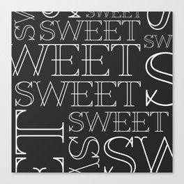 Sweet Type Canvas Print