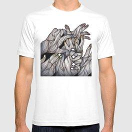 Tangled Hands Illustration T-shirt