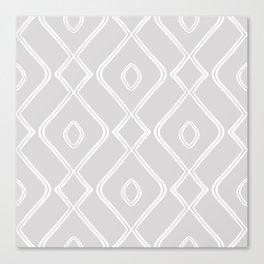 Modern Boho Ogee in Grey Canvas Print