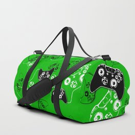 Video Game Green Duffle Bag