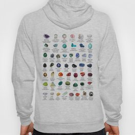 crystals gemstones identification Hoody
