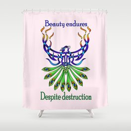Beauty and Strength Shower Curtain