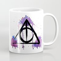 deathly hallows Mugs featuring The Deathly Hallows by AliceInWonderbookland