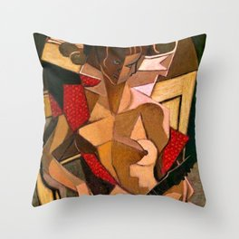 Woman with a Mandolin by Jean Metzinger Throw Pillow