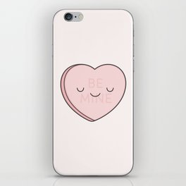 Pink Sweet Candy Heart iPhone Skin