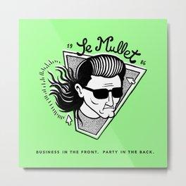 Le Mullet Green Metal Print