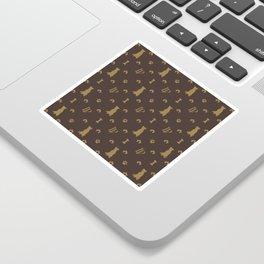 Louis Pitbull Luxury Dog Bling Pattern Sticker