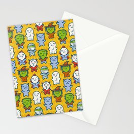 Halloween monsters Stationery Cards