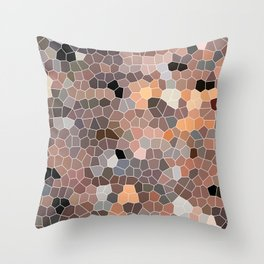 The Red Brick Road, abstract art Throw Pillow