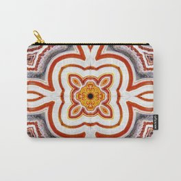 India Print Two Carry-All Pouch