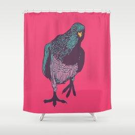 Pop Pigeon Shower Curtain