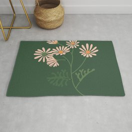 Look for Light - Green + Apricot Rug