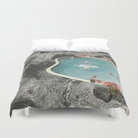 allison argent Duvet Covers featuring is this the place that they call paradise? by Jesse Treece